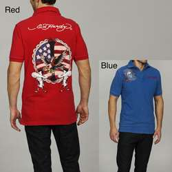 Ed Hardy Mens Ace Vintage Polo Shirt  Overstock