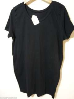 American Apparel Black Cotton Tee, One Size, New