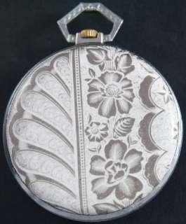 Pocket Watch Art Deco Enamel Scene MONTRE RELOJ OROLOGIO UHR