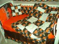 Baby Nursery Crib Bedding Set w/Cleveland Browns fabric