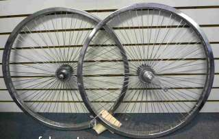 Beach Cruiser Bike 26x1.75 68 spokes R & F Wheelset Chrome W Coaster