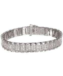 14k Gold 5 ct Diamond Tennis Bracelet (G H, I2 I3)