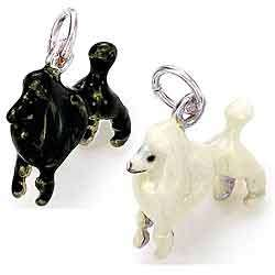 Best in Show Sterling Silver and Enamel Poodle Charm