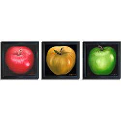 Nelly Arenas Apples Framed Canvas Art 3 piece Set