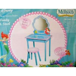Disney Little Mermaid Furniture   Ariel Vanity and Stool