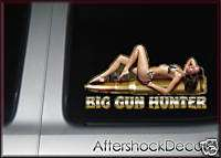 Rifle Hunting Decal Sticker Sexy Girl Gun Deer