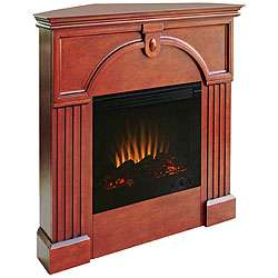 Turin Mahogany Electric Corner Fireplace