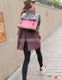 Fashion Shoulder Bag Satchel Tote Handbag Black Blue Rose #675