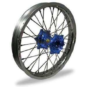 Pro Wheel MX Rear Wheel Set   19x1.85   Silver Rim/Blue Hub 24 51031