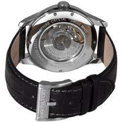 Hamilton Mens Jazzmaster Viewmatic Black Strap Automatic Watch