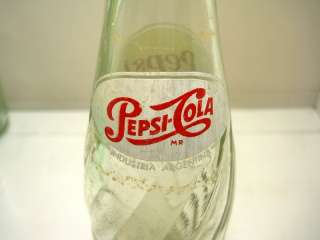 PEPSI COLA BOTTLE COLA SODA VINTAGE ARGENTINA 1960s
