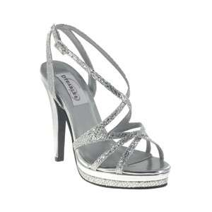 Dyeables in SILVER GLITTER Bridal Bridesmaid Prom Pageant Shoes