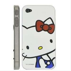 Lovely White Hello Kitty Case for Iphone 4 g 4g + Free