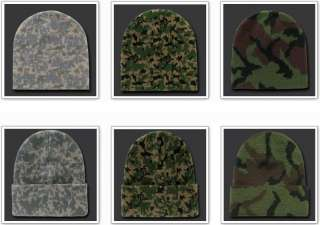 Army Woodland Knit Skull Hunting Camo Camouflage Ski Winter Beanie Hat