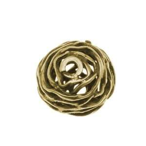 Antiqued Brass Openwork Round Focal Bead 12mm (1) Arts