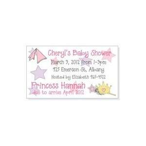 MAGBS254   Princess Theme Baby Shower Invitation Magnet