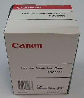 Canon PowerShot G3 Digital Camera Leather SemiHard Case