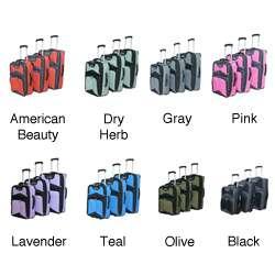 Concord Polo Club Lightweight 3 Piece Designer Luggage Set