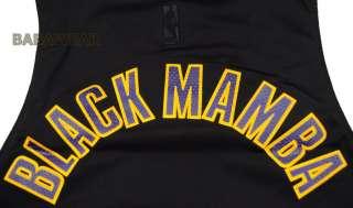 Lakers Kobe Bryant Black Mamba Jersey NBA Los Angeles Large 24 Black
