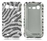 ZEBRA Rhinestone BLING Diamond Case 4 HTC INCREDIBLE 2