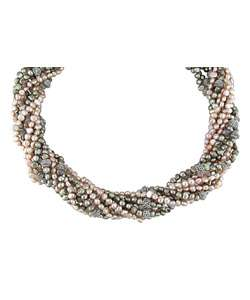 Sterling Silver Multi strand Pearl Necklace