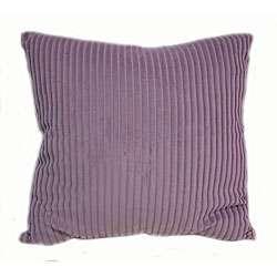 Velvet Stripe 16 inch Lilac Throw Pillows (Set of 2)