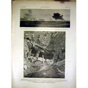 Cave Trench War Dames Military French Print 1917
