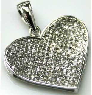 14KT Gold Womens Diamond Charm Cross Heart Love Pendant