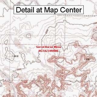 USGS Topographic Quadrangle Map   Sorrel Horse Mesa
