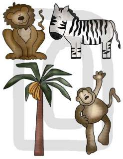 JUNGLE SAFARI MONKEY NURSERY BABY WALL STICKERS DECALS