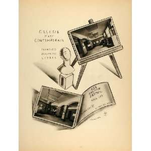 1928 Lithograph Galerie Art Contemporain Paris Foujita