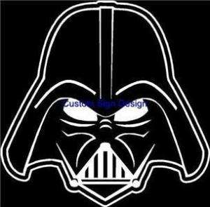 Darth Vader Helmet Car Window Decal Sticker Face Head