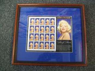 MARILYN MONROE   FRAMED STAMPS   LEGENDS OF HOLLYWOOD