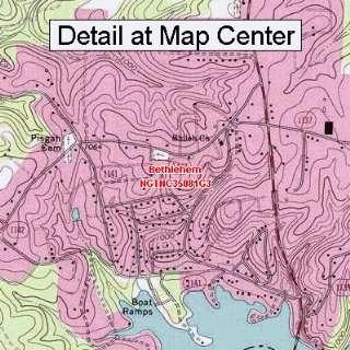 USGS Topographic Quadrangle Map   Bethlehem, North