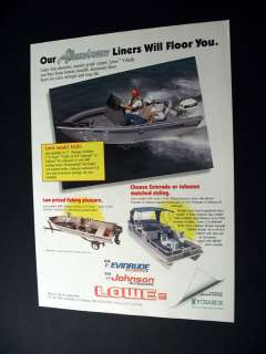 Lowe Model 1620 Fishing Boat 1990 print Ad