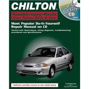 Total Car Care CD ROM Hyundai Isuzu Mazda Cars, Trucks, SUVs & Vans