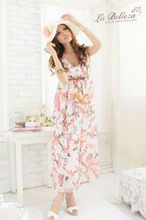 Flower Chiffon Full length Maxi Long Dresses Sundress Casual