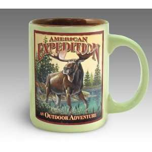 Bull Moose Vintage Art Coffee Mug