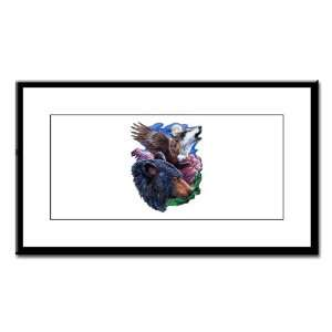 Small Framed Print Bear Bald Eagle and Wolf: Everything Else