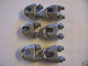 AMERICAN TOWER, ROHN TOWER 5/16 GUY WIRE CLAMPS
