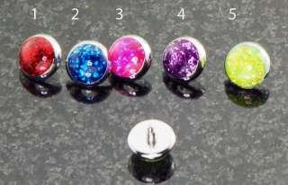 14g Brilliant Glitter Dermal Anchor Head (Chose Colors)