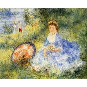 name: Young Woman with a Japanese Umbrella, by Renoir PierreAuguste