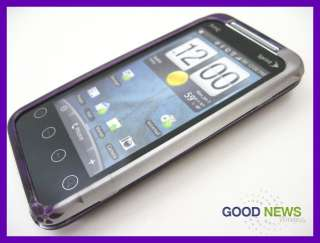 for Sprint HTC EVO Shift 4G   Purple Vines Rubberized Hard Case Phone