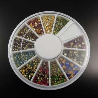 1000PCS Mixed Color Rhinestone Crystals
