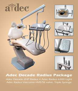 Adec Decade 1021 Chair W/Stool Package Dental Unit