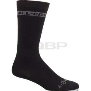 All City Mid Wool Sock Black; SM/MD