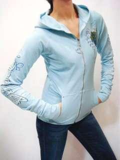 Swarovski Crystal Deco Dance With Wind Wings Heart Hoodie Jacket S