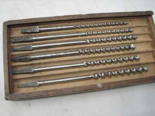 AUGER BITS COMBINATION SET NO. XII DRILL WOOD TOOL W/ORIG BOX