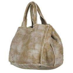 Prada BN1916 Beige Leather Shopper Bag
