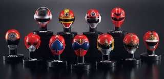 Bandai Power Rangers Red Sentai Head Trading figure x11